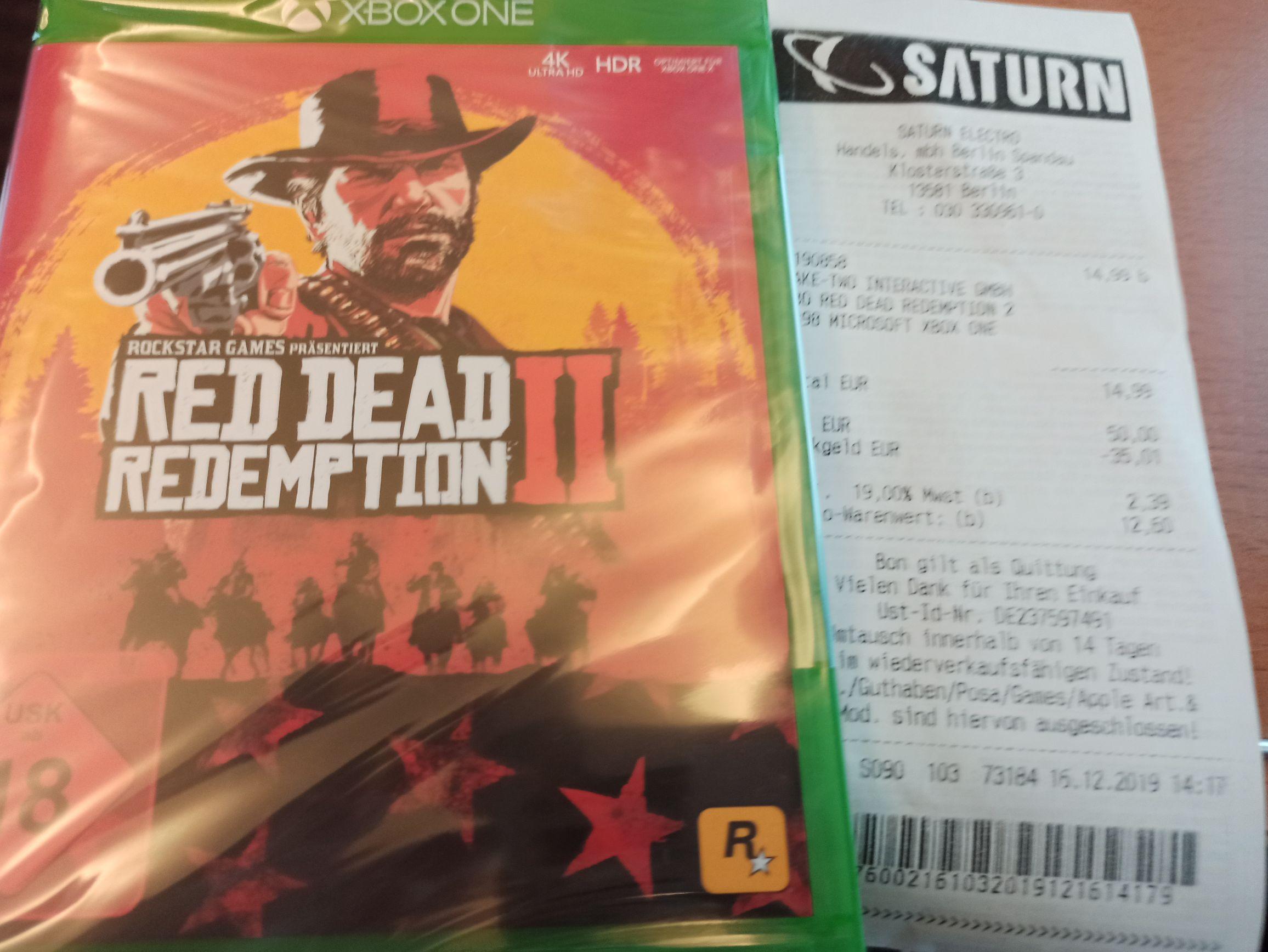 [Saturn Berlin Spandau] Red Dead Redemption 2 xbox one