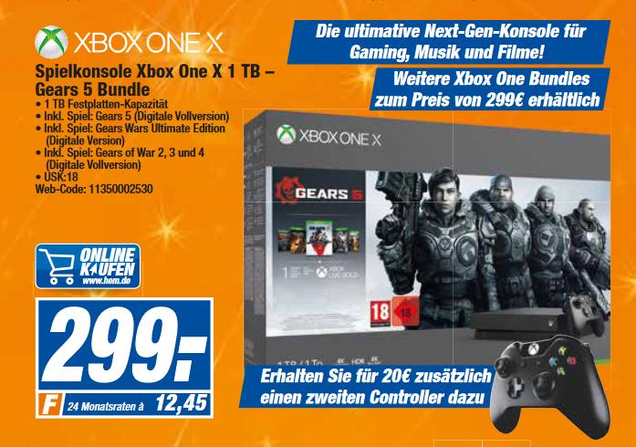 [lokal: Expert bundesweit] Xbox One X 1TB - alle Bundles + 2. Controller für 319€