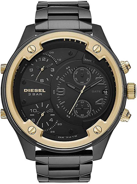 Diesel Herren Chronograph Quarz Uhr mit Edelstahl Armband DZ7418