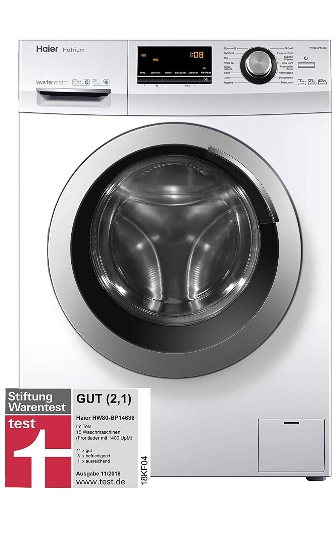 Waschmaschine Haier Hatrium HW80-BP14636 inkl. Lieferung zum Aufstellort und Altgerätentsorgung