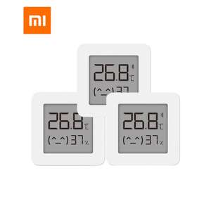 3x XIAOMI Mijia Bluetooth Thermometer 2 [Neueste Version] | 1 für 5,90€