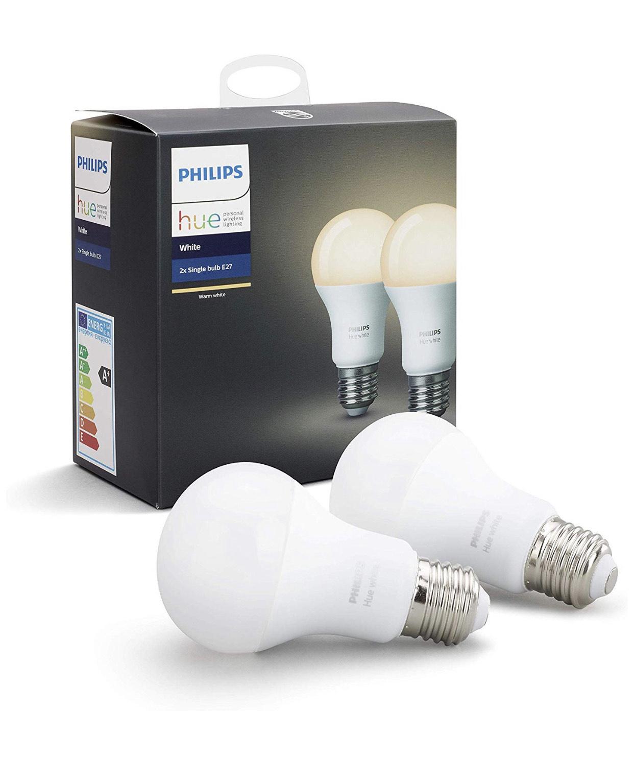 2 mal Philips Hue E27 White Lampe für 18,84€ inkl. Versand