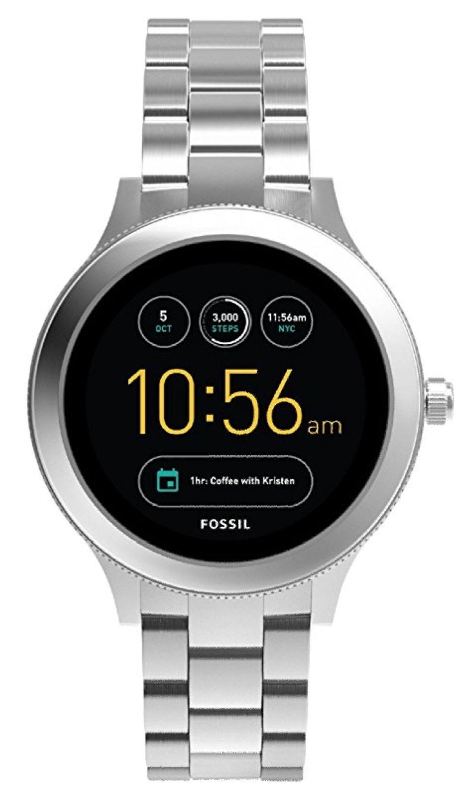 Fossil Smartwatch Q Venture 3. Generation - Edelstahl, komplett silber