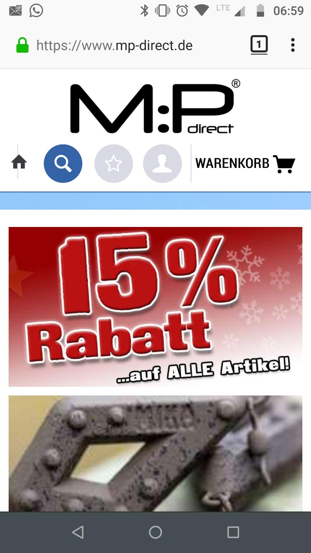 [MP-direct] 15 % Rabatt auf alle Artikel im Shop von MIKA Products