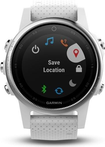 Garmin Fenix 5S - Multisport Smartwatch in silber/weiß (GPS, 220mm, 24/7 Herzfrequenzmessung) 010-01685-00