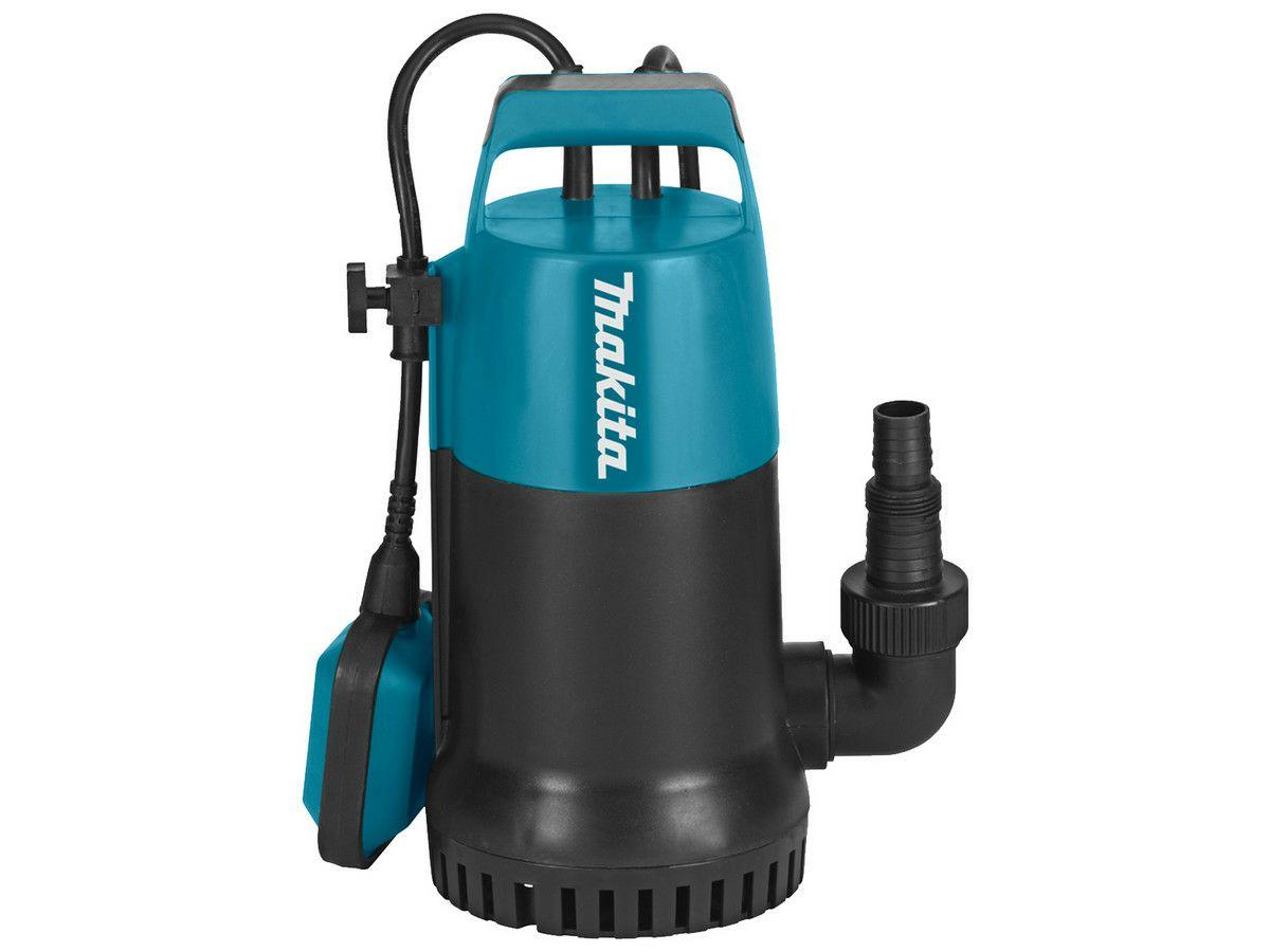 Makita PF0800 Klarwasser-Tauchpumpe (230 V, 800 W, 10 m Kabel, 220 L/Min.)