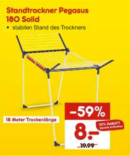 [ Lokal ] Netto - Leifheit Standtrockner Pegasus Solid 180 für 8€
