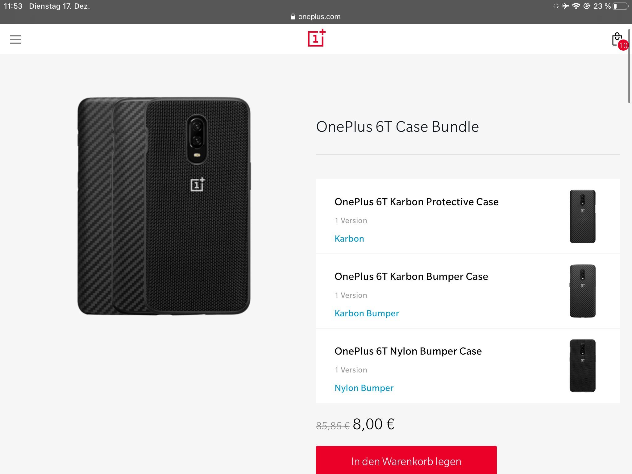 OnePlus 6T Case Bundel | 3 Originale Hüllen für nur 8€