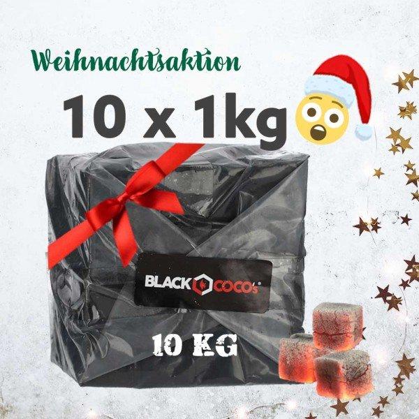 Black Cocos Kokoskohle 11kg für 32,5€ (~2,954€ je kg) Shisha Kohle
