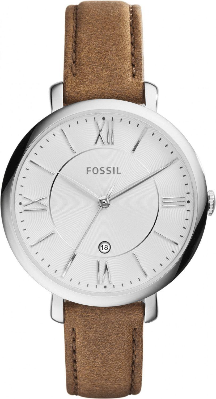 Fossil Jacqueline Leder Armbanduhr Damen braun (ES3708)