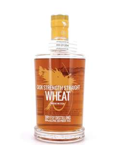 DRY FLY Cask Strength Straight Wheat. Bourbon Whiskey