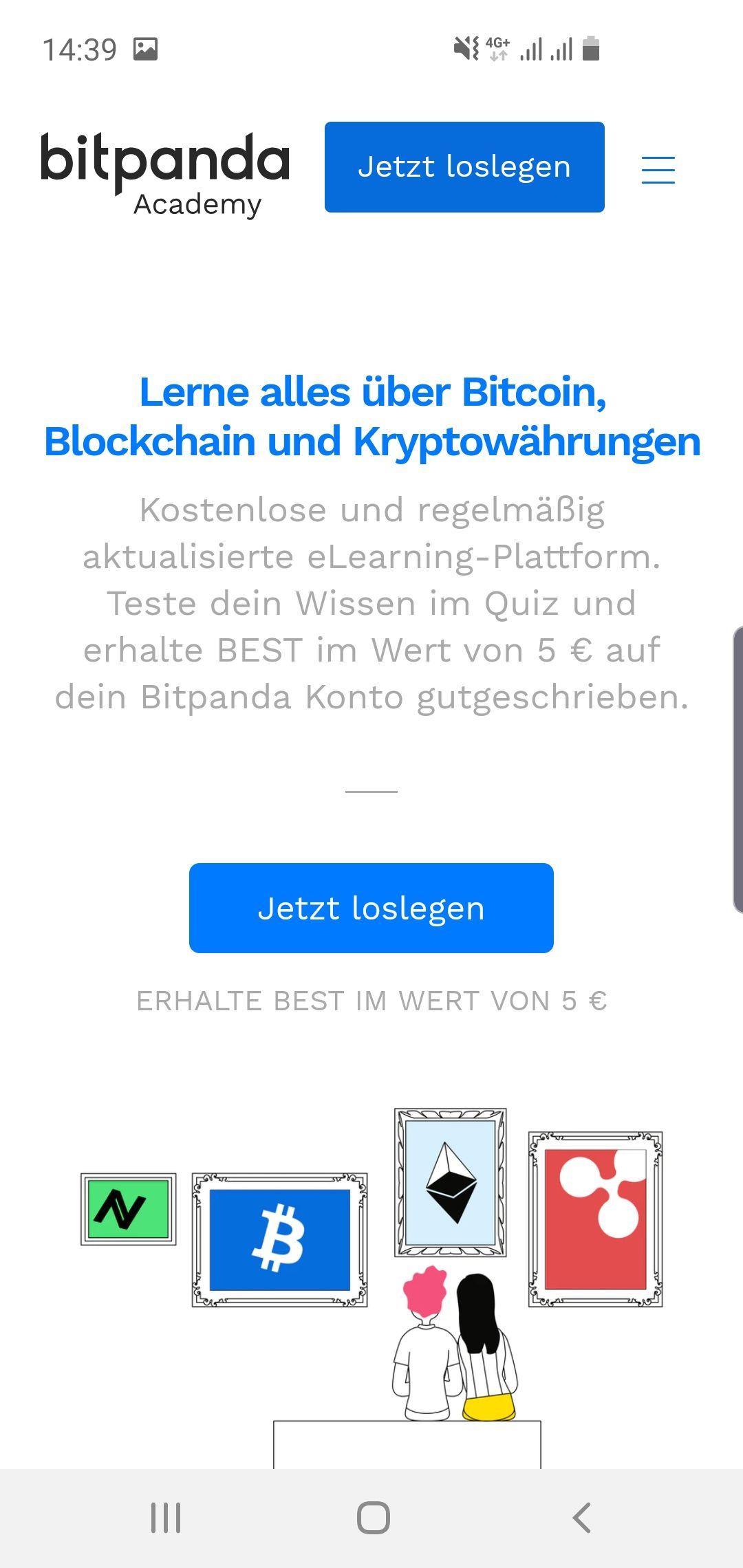 Bitpanda schenkt 5€ für 15 Fragen! (Verifizierung)