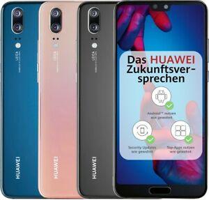 "Huawei P20 DualSim 128GB LTE Android *neuwertig* 5,8"" Display 20Megapixel (schwarz, blau)"