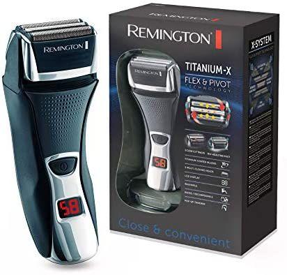 Remington Elektrischer Rasierer Herren F7800 (+LED Minuten-Display, Netz-/Akkubetrieb), Trocken-Rasierapparat, Präzisionstrimmer [Amazon]