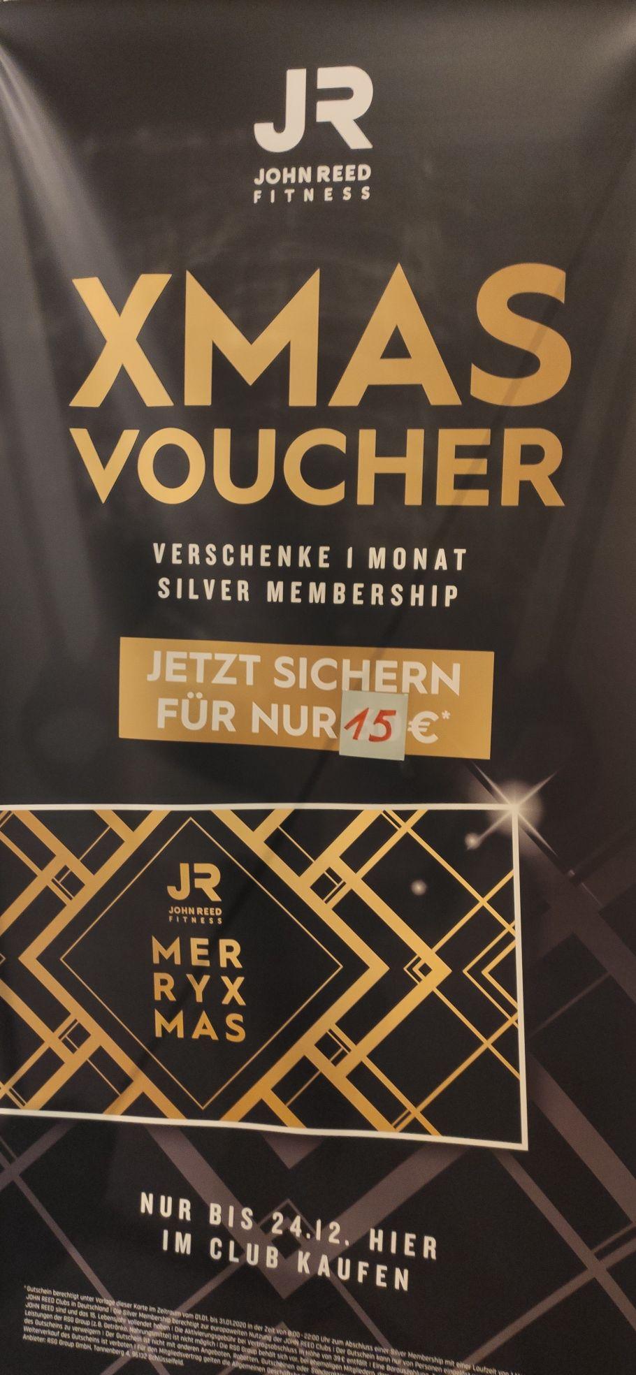 Geschenkgutschein für einen Monat Silber-Mitgliedschaft bei John Reed (01.01. bis 31.01., endet automatisch)
