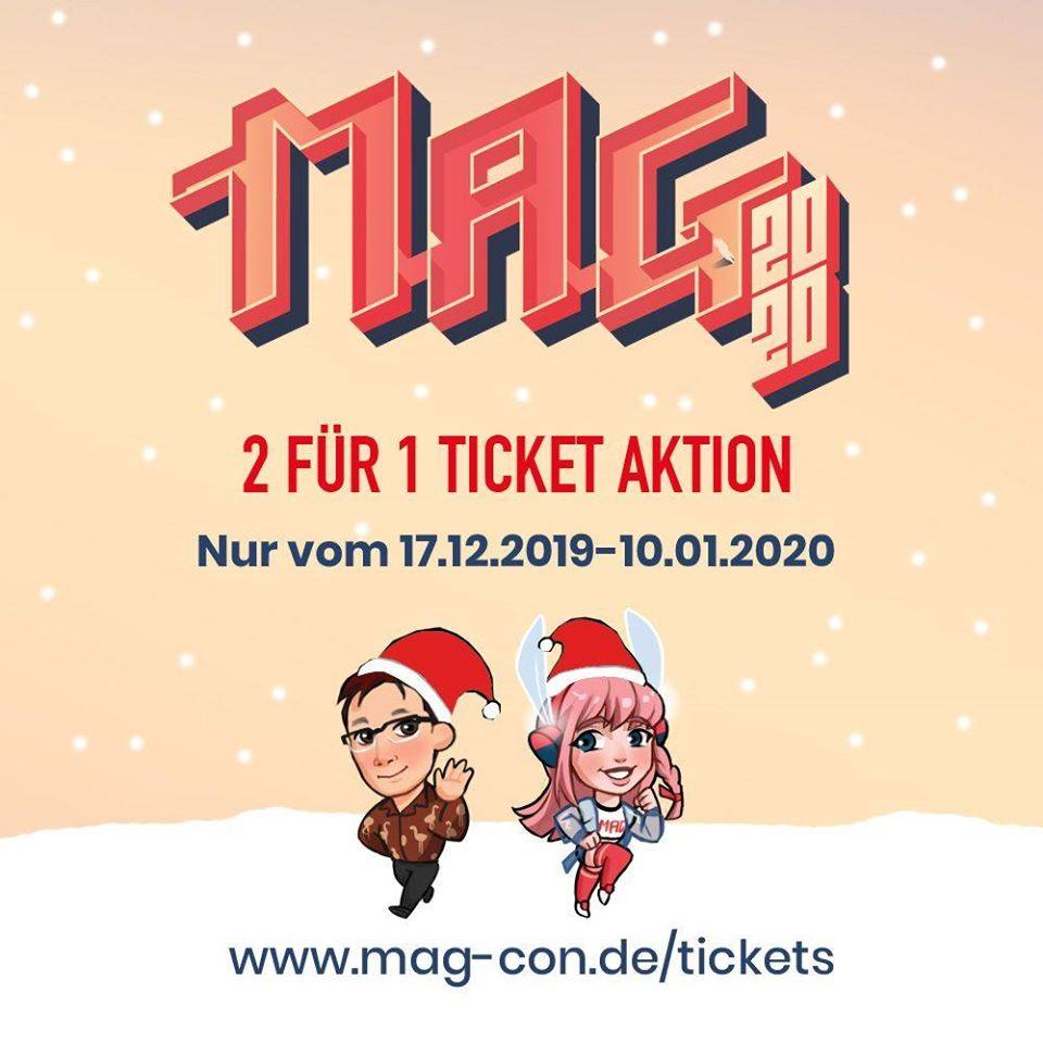 MAG Con 2020 Ticket Aktion | 2 für 1 (Gültig für 3 Tages Ticket oder Tagesticket) XMAS-Special bei print@home