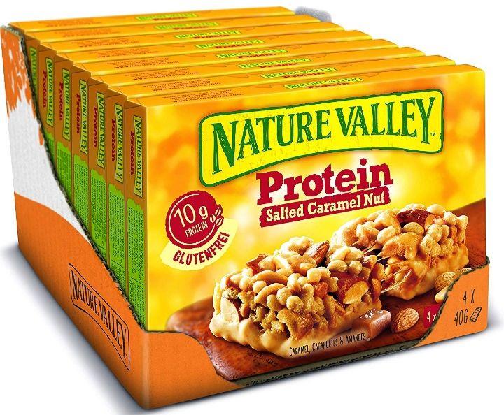 [Amazon] Nature Valley (Protein) Riegel 8×160 (4×40g Riegel Packungen)