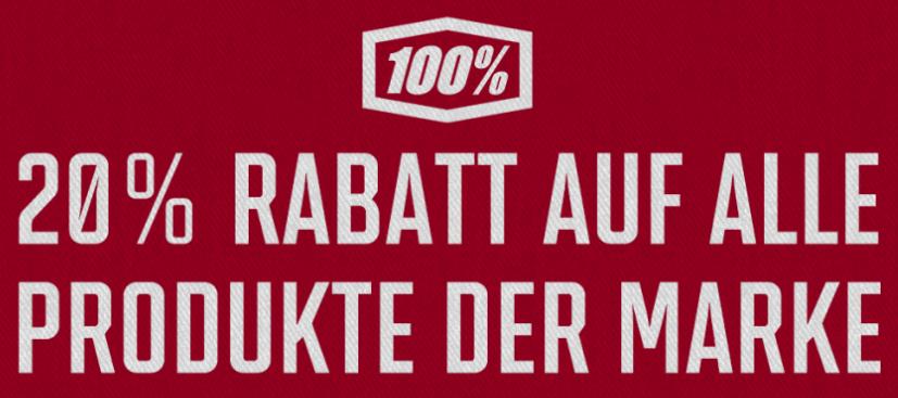 """20% auf die Marke """"100 %"""" bei bike-components"""