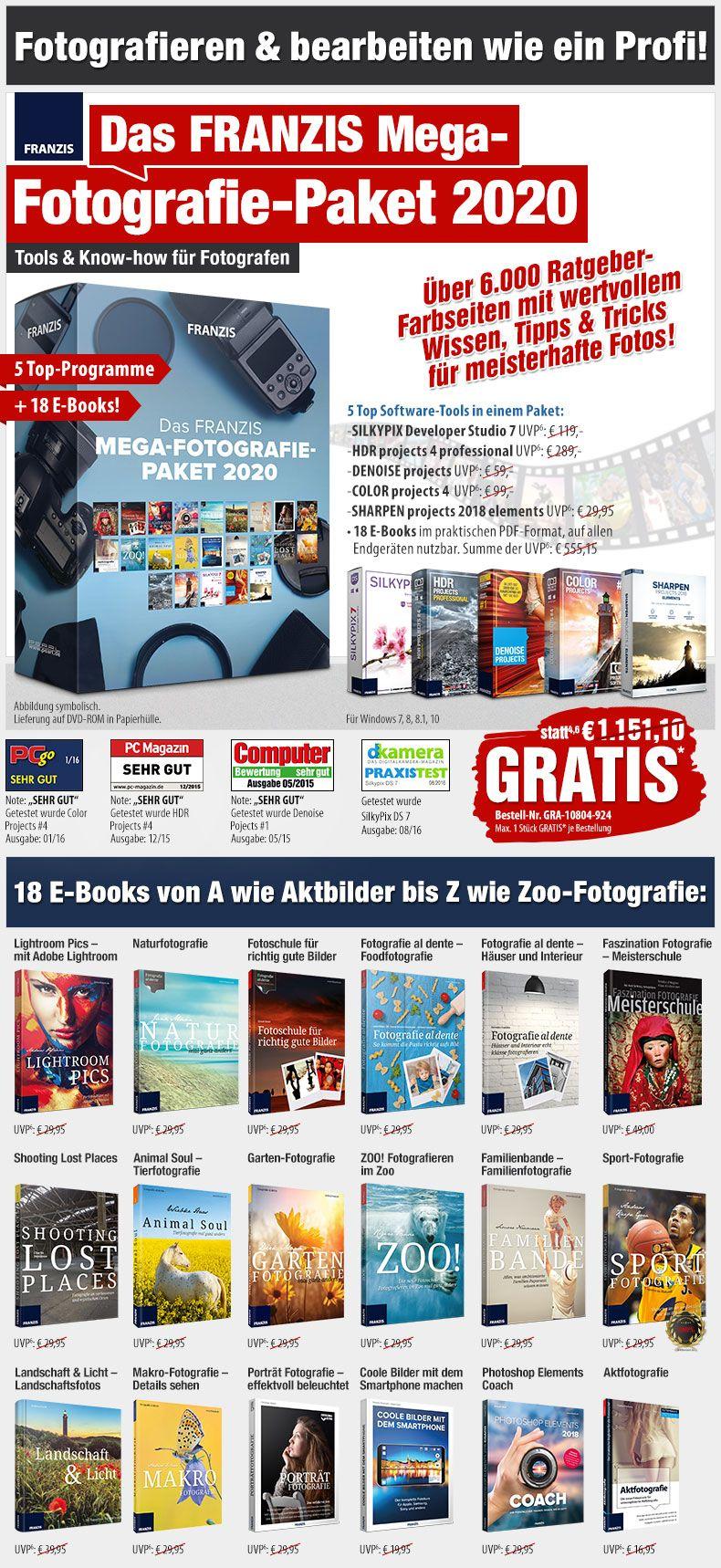 FRANZIS Mega-Fotografie-Paket 2020 auf DVD-ROM