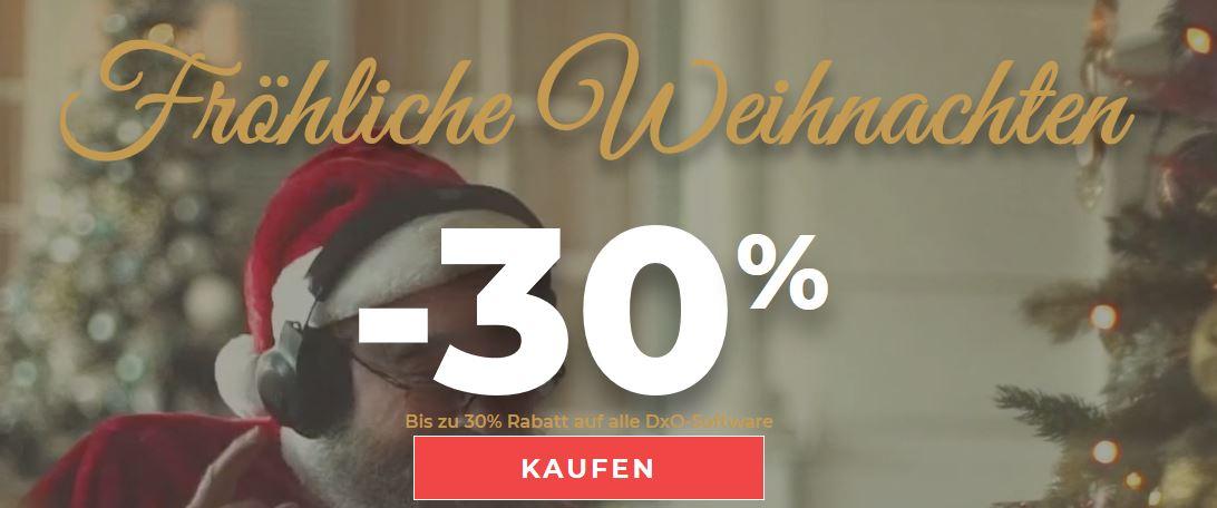 Bis zu 30% Rabatt auf alle Software-Produkte von DXO (z.B. PhotoLab, Nik Collection)