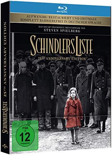 [Amazon Prime] Blu-ray Mediabook Sammeldeal #03, z.B. Schindlers Liste Blu-ray Mediabook zum Bestpreis von 16,97€ inkl. Versand