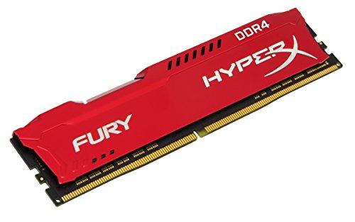 HyperX HX432C18FR2K2/16 Fury Rot Arbeitsspeicher, DDR4, 16GB (Kit 2x8GB), 3200MHz, CL18, DIMM XMP