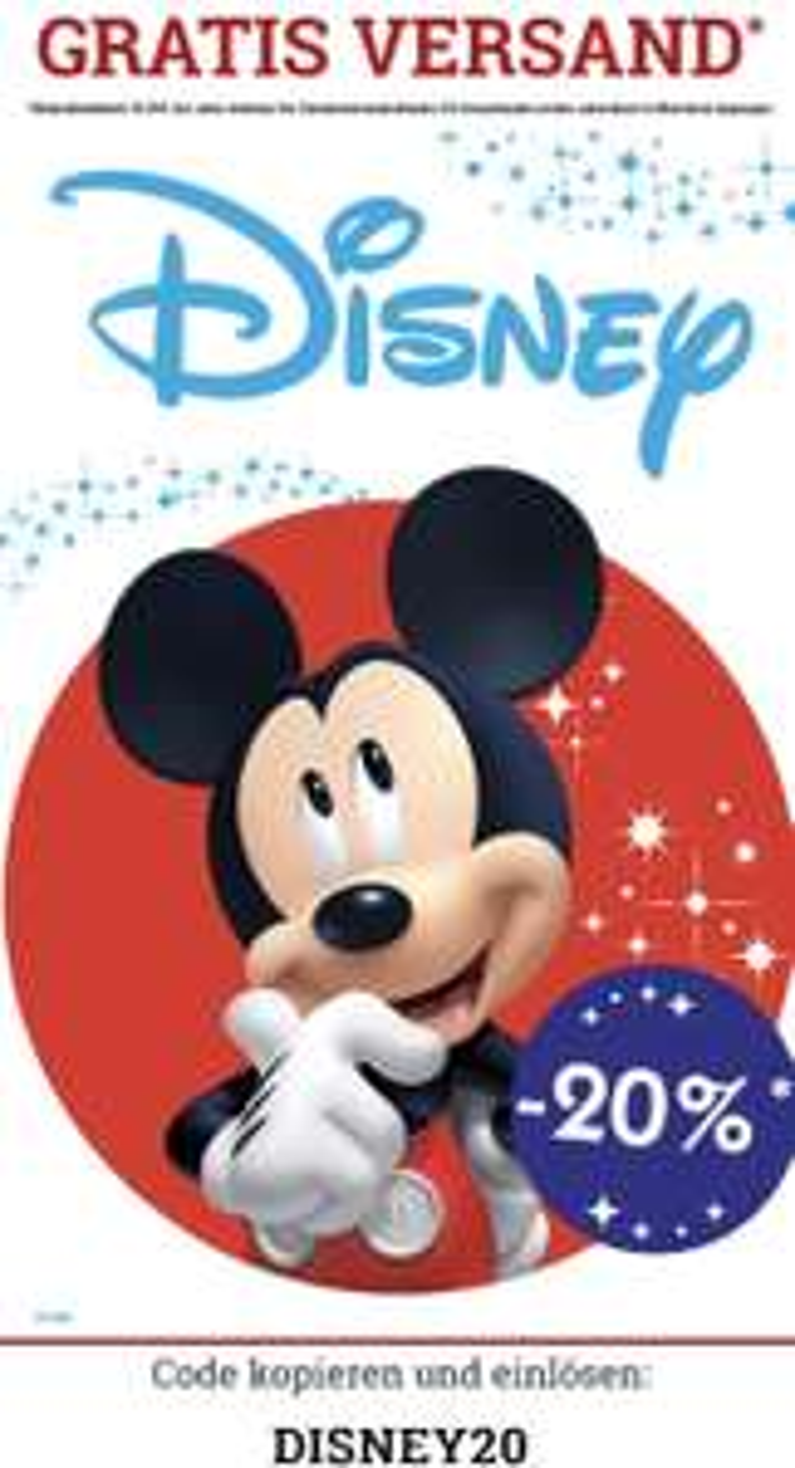 Nur heute!!!! 20% auf Disney Artikel