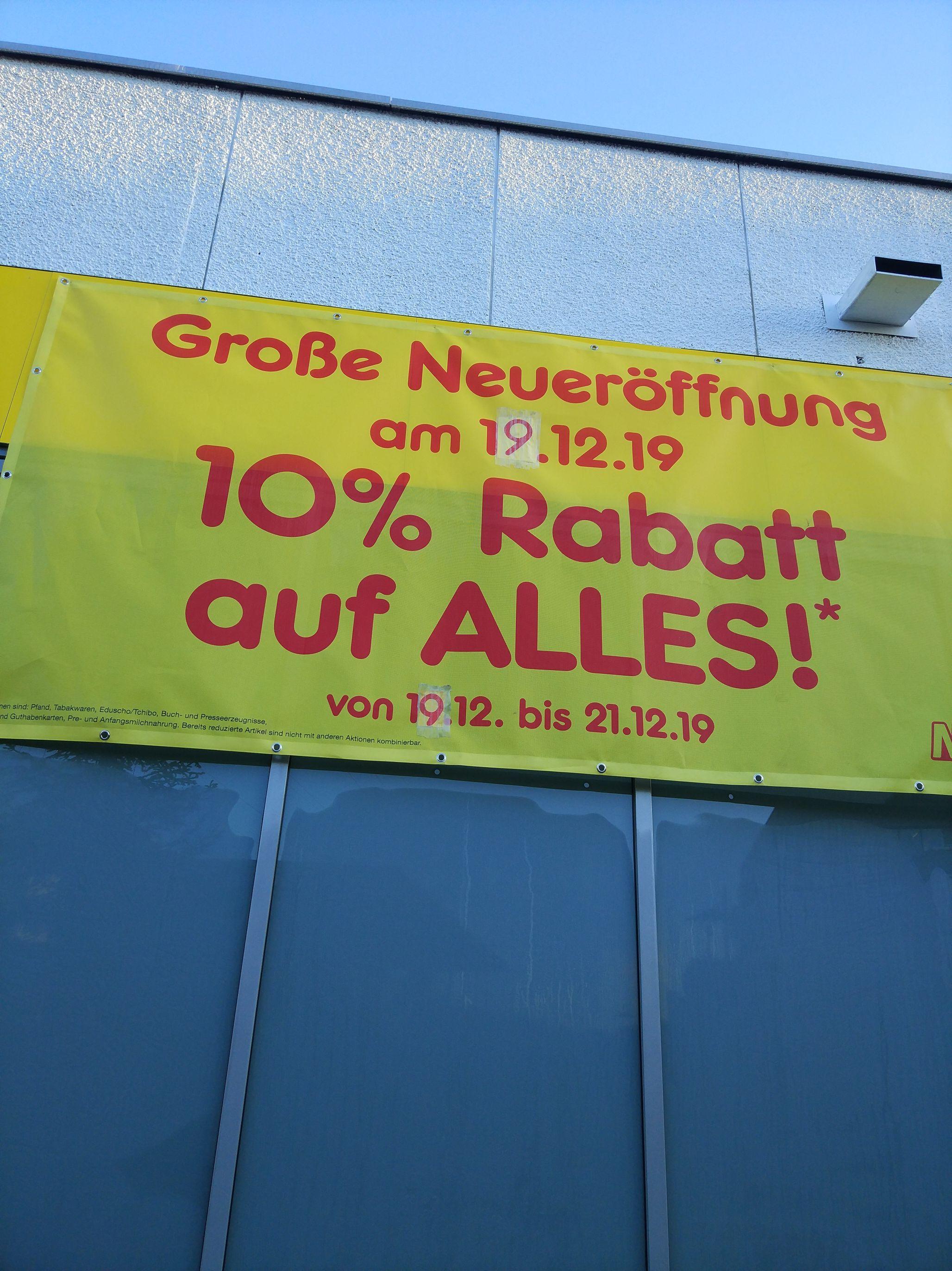 [Lokal] Neueröffnung Netto Schwalbach a.T. 10% auf alles