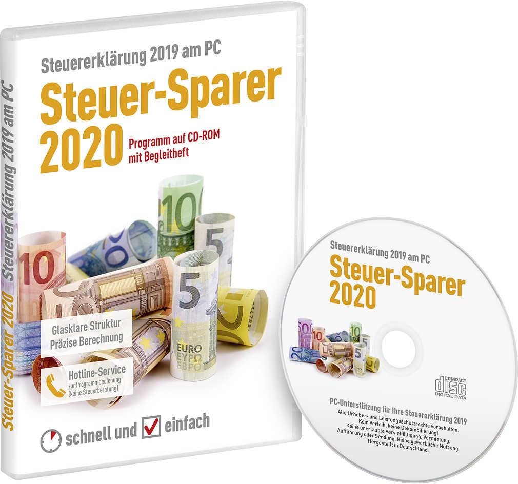 (Kaufland) CD-ROM »Steuer-Sparer 2020« Ganz einfach zur Steuererklärung 2019 am PC - Die von Kaufland und Postbank bekannte Software