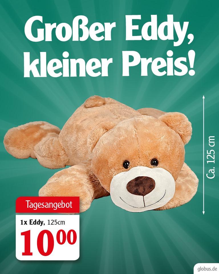 [Globus] 1,25m XXL-Teddybär Eddy Brummchen für nur 10€