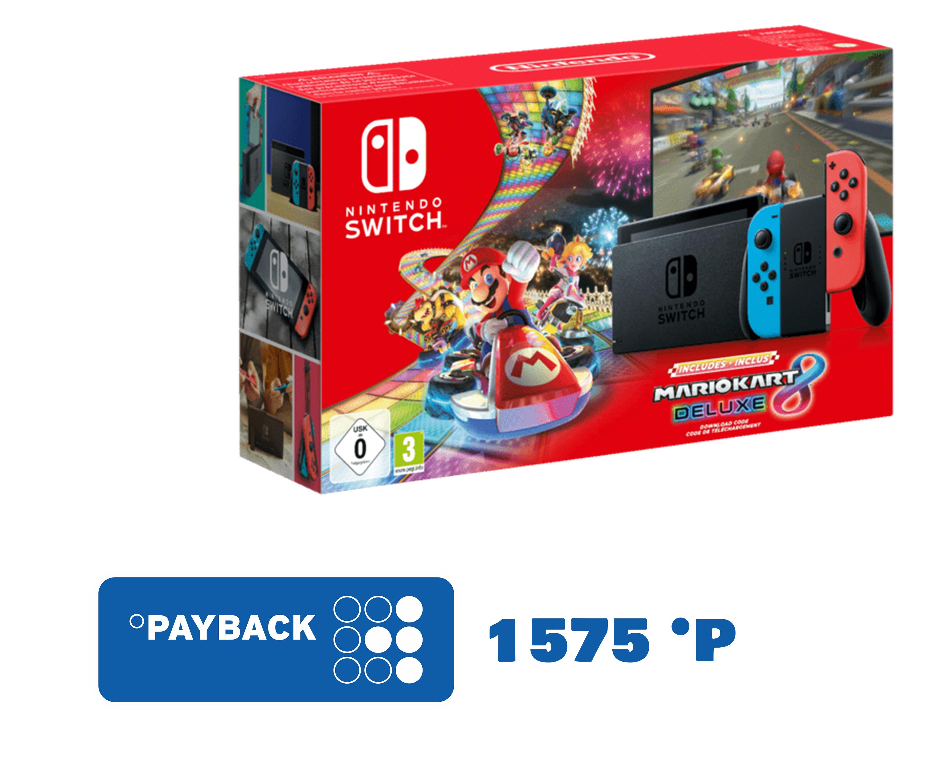 Beliebtes Mario Kart 8 Deluxe / Switch 2019 Edition Bundle für 315€ + 1575 Payback Punkte mit eCoupon