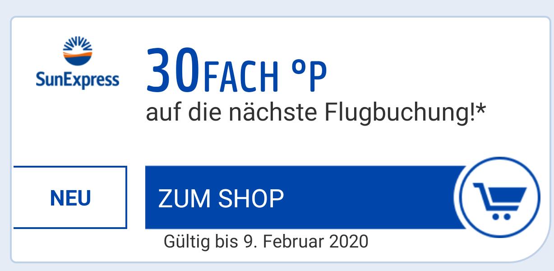 30-fach Paybackpunkte für die nächste Flugbuchung auf SunExpress