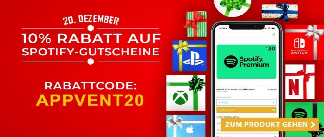 Spotify Gutschein / Geschenkkarte 10% Rabatt in der Startselect App