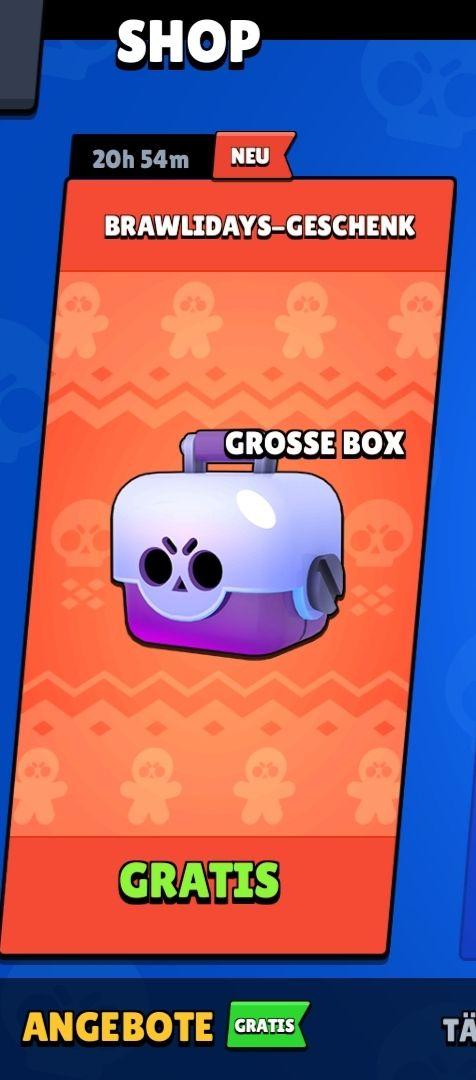 [Handy Spiel] Brawl Stars Große Box Gratis + 2 Mal große Box durch Fehler