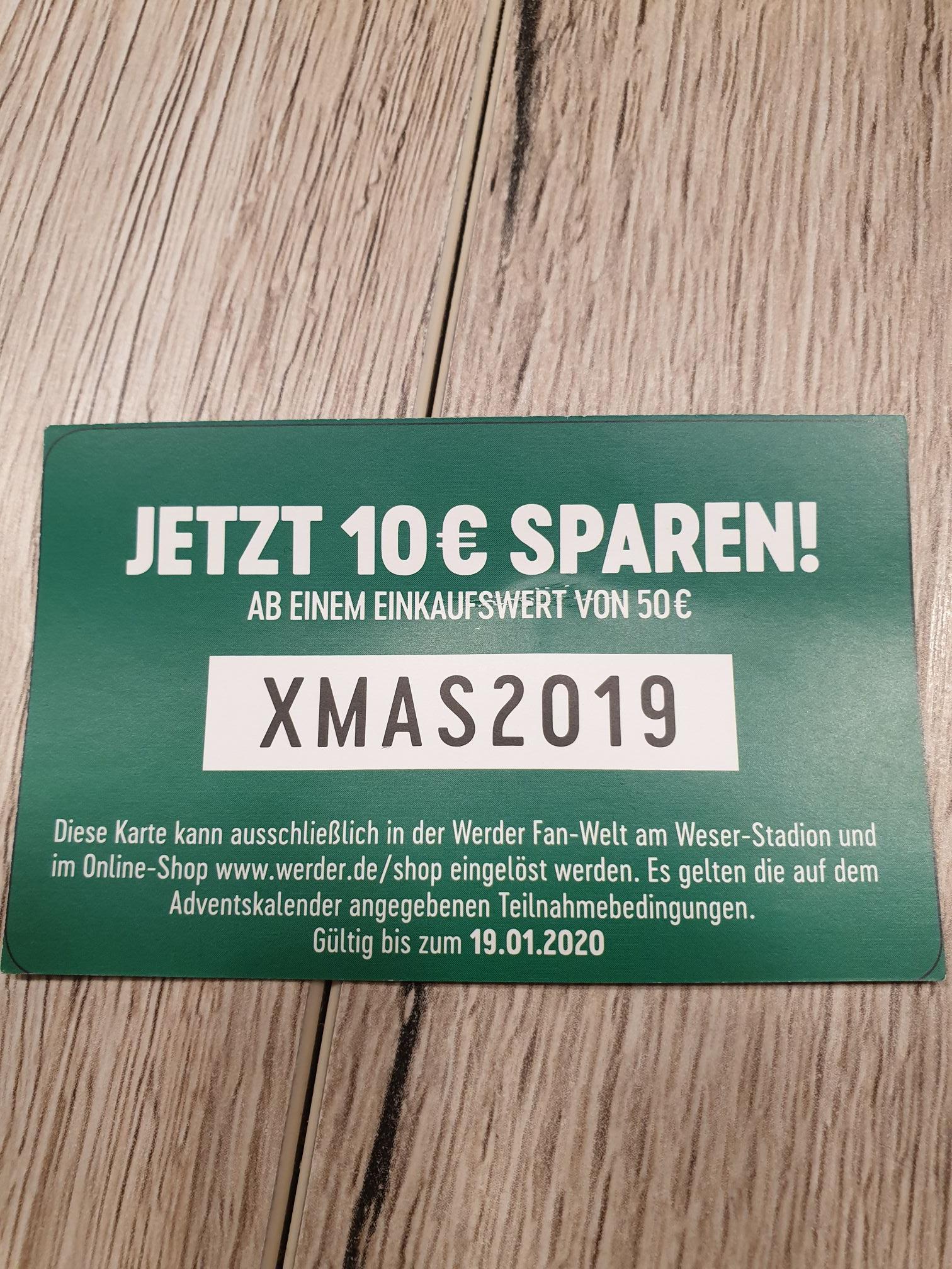 Gutschein Werder Fan-Welt oder Onlineshop