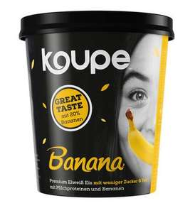 Koupe Banana Protein Eis (500ml) & Oppo Ice Cream Chocolate Chip Cookie Low(-er) Carb 475ml [lokal]