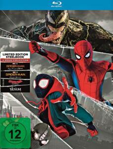 Spider-Man - 4 Movie Collection Limited Steelbook Edition (Blu-ray) für 21,24€ (Müller)