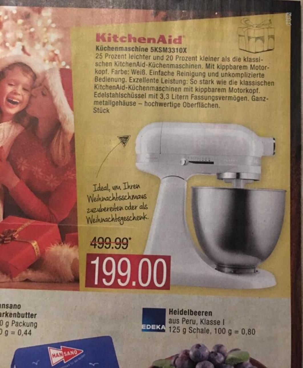 (Marktkauf) (Lokal Hamburg und Buxtehude) KitchenAid 5KSM3310X