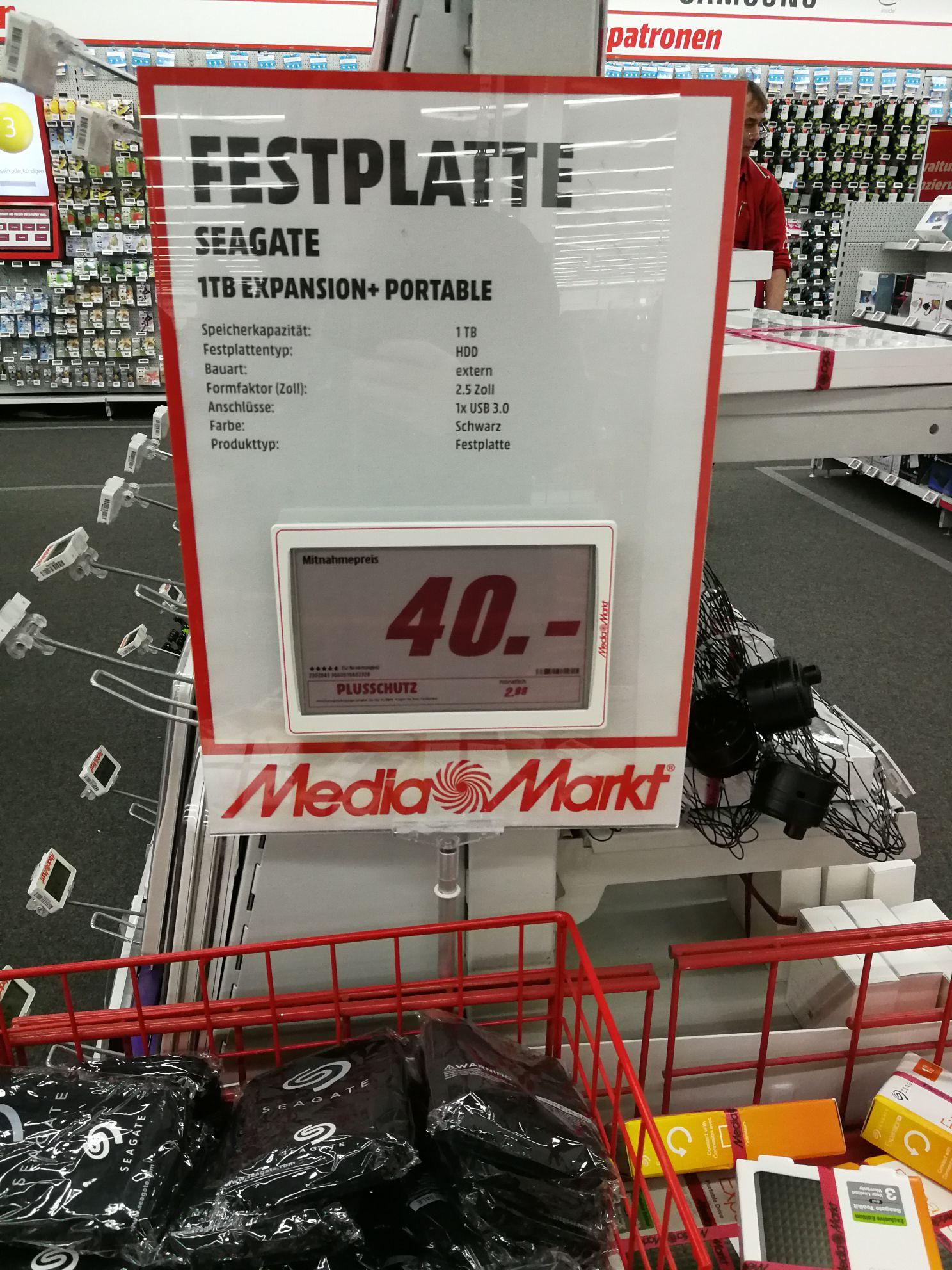 [Lokal: Mediamarkt Münster] Seagate Expansion+ Portable 1TB Festplatte HDD (STEA1000400)