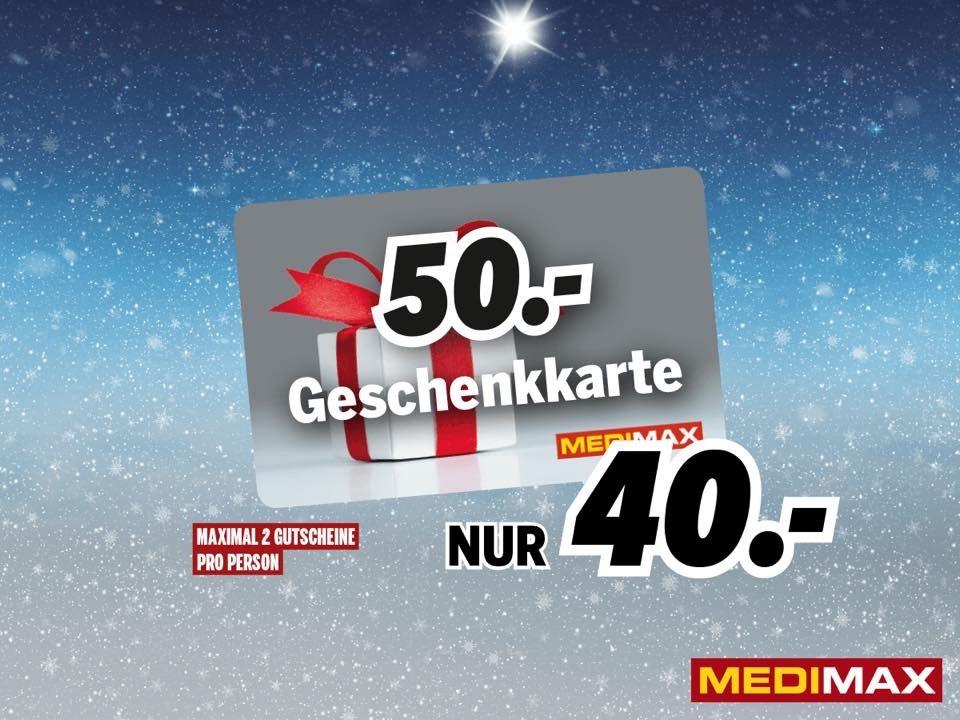 [Lokal Bad Nauheim - Hessen] Medimax 50€ Geschenkkarte für 40€