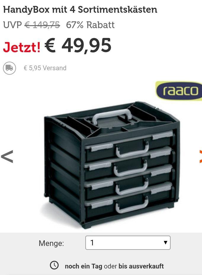 Raaco Handy Box mit 4 Sortimentskästen