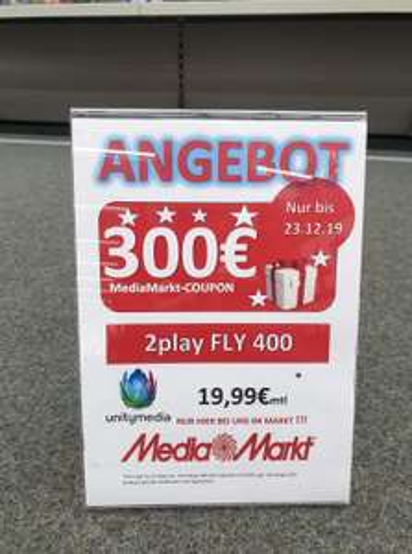 Mediamarkt Dorsten Unitymedia 2 Play mit 300 Euro Coupon