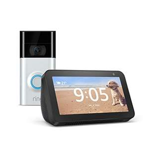 Ring Video Doorbell 2 mit Retour Amazon Echo Show 5 - 103,75€! Echo Show 5 nur 43,75€!