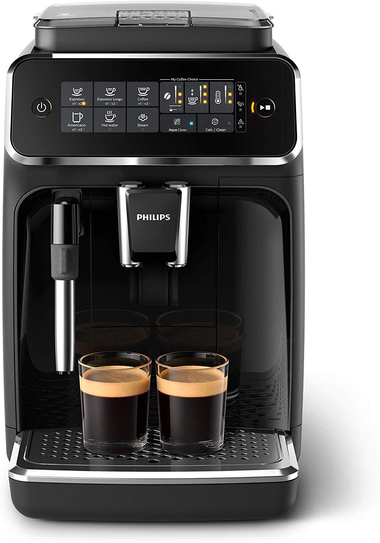 Philips 3200 Serie EP3221/40 Kaffeevollautomat (SensorTouch Benutzeroberfläche) schwarz/Klavierlack-Schwarz [Amazon & 0815]