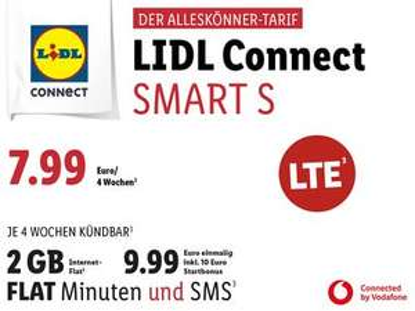 Lidl Connect Startersets inkl.10€ Startguthaben (Vodafone Netz)
