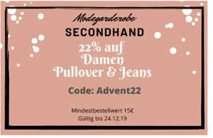 Damen Pullover & Jeans 22% zum 4.Advent [Modegarderobe Secondhand]