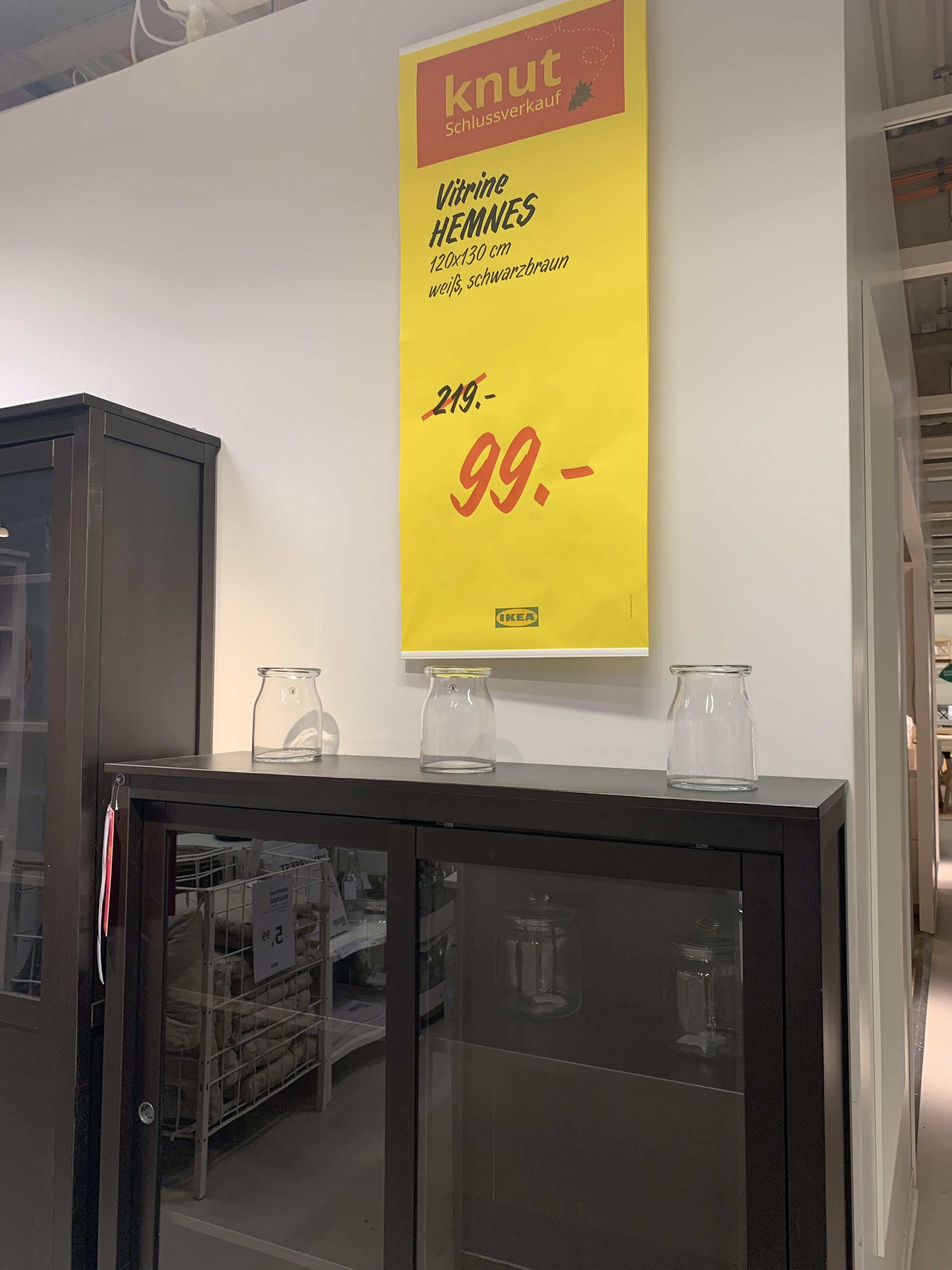 IKEA [bundesweit? / Berlin-Lichtenberg] Knut Schlussverkauf z.B. Hemnes Vitrine für 99€