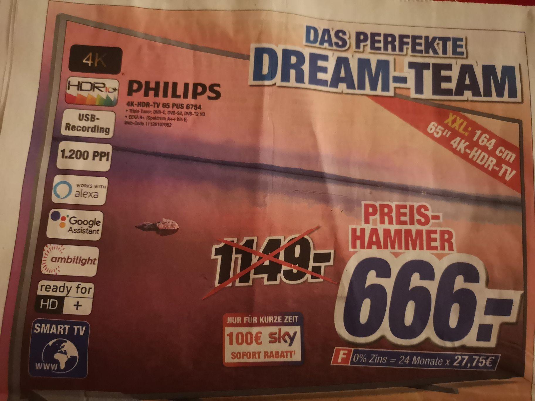 PHILIPS 4K-HDR-TV 65 PUS 6754 || Expert Klein