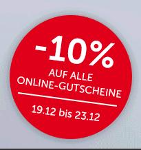 INTERSPAR 10% auf ALLE Online Gutscheine bis zum 23.12 | iTunes, Bet@Home, Cineplexx, Google Play, PSN, Nintendo eShop, Xbox Live, IKEA ...