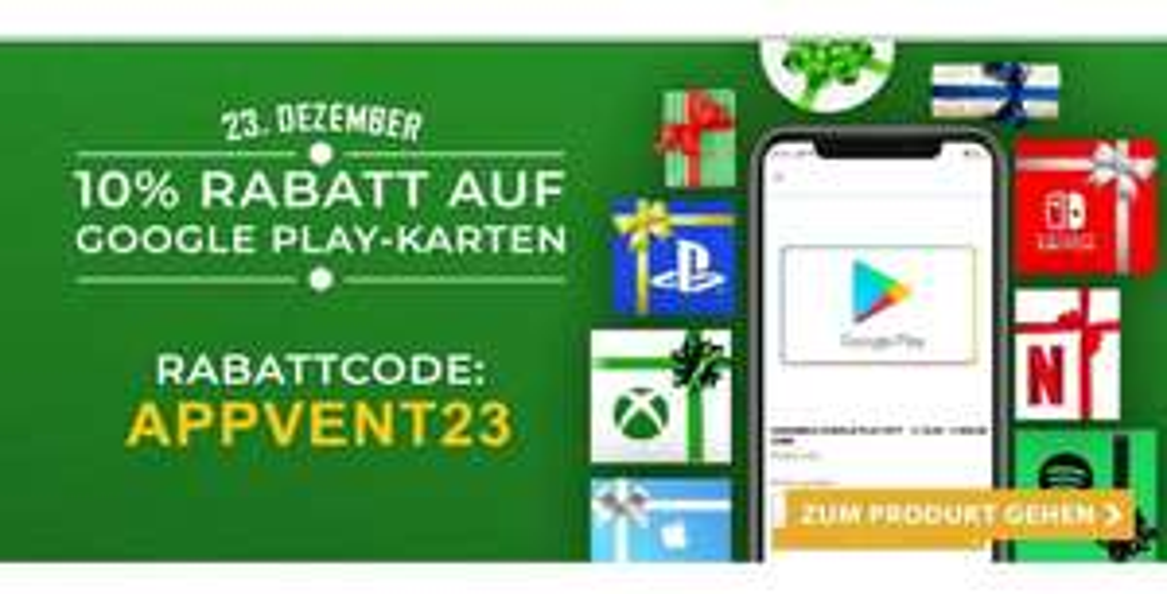 Startselect Google Play Gutschein 10%
